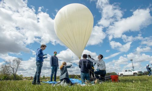 New satellite design team IrishSat launches its first high-altitude balloon